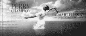 Man playing tennis. Wimbledon's rebrand video marketing strategy.